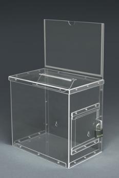 Ящик для сбора пожертвований с информационным окном