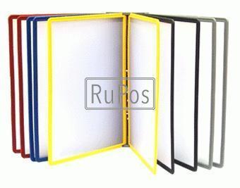 Настенная перекидная система А4 (10 рам), желтая