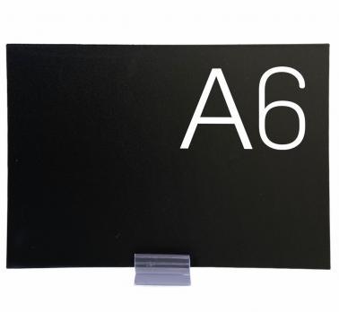 Меловой ценник карточка A6 (черный)