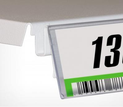 Полочный самоклеющийся ценникодержатель (39/1000мм), DBR прозрачный