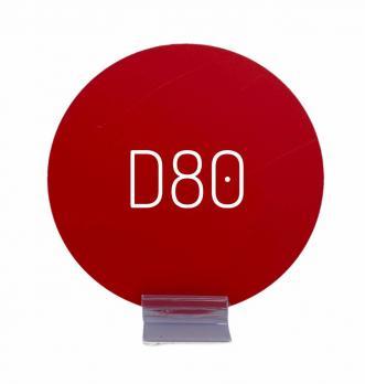 Меловой ценник круглый (D80мм)
