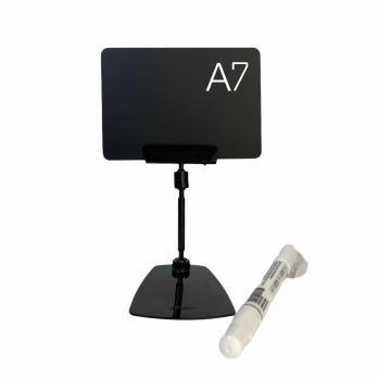 (цена за 50шт) Набор шарнирный ценникодержатель на подставке(50мм) + карточка А7 + маркер